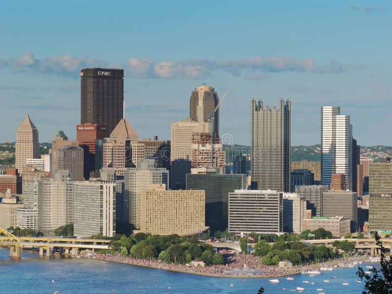 匹兹堡地平线 库存图片