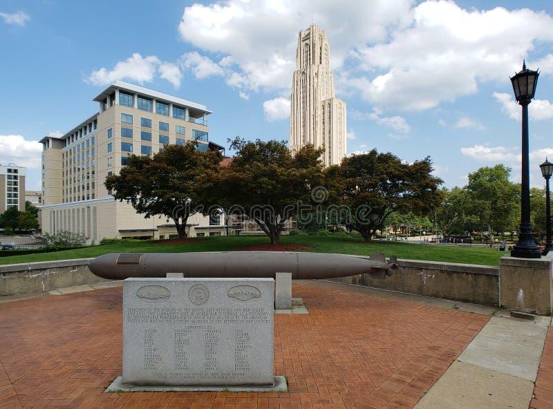 匹兹堡大学校园视图PA美国 库存图片