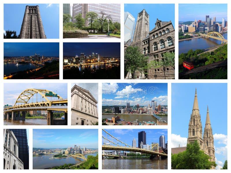 匹兹堡拼贴画 库存照片