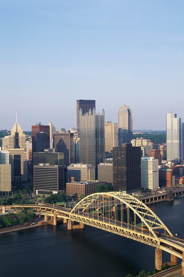 匹兹堡视图  库存图片