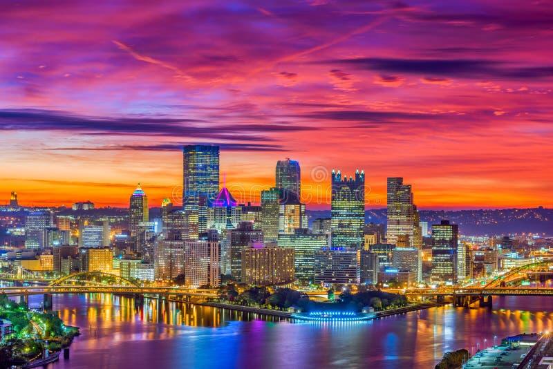 匹兹堡,宾夕法尼亚,美国地平线 库存图片