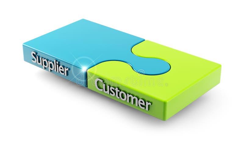 匹配在顾客和供应商之间 皇族释放例证