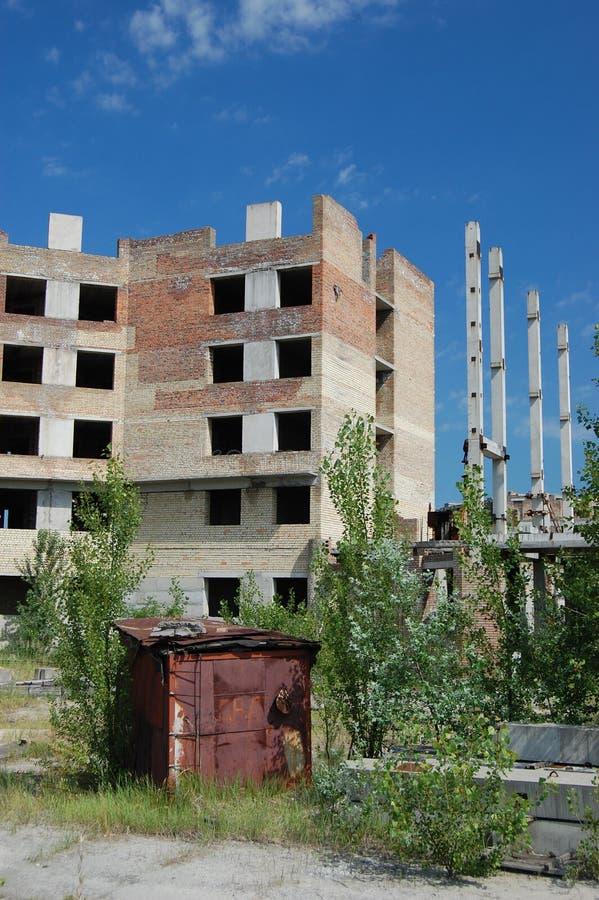 区丢失的切尔诺贝利市 免版税库存图片