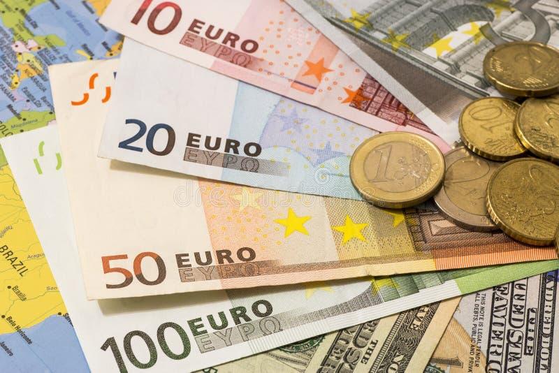 区别美元欧元注意符号 标志区别 库存照片
