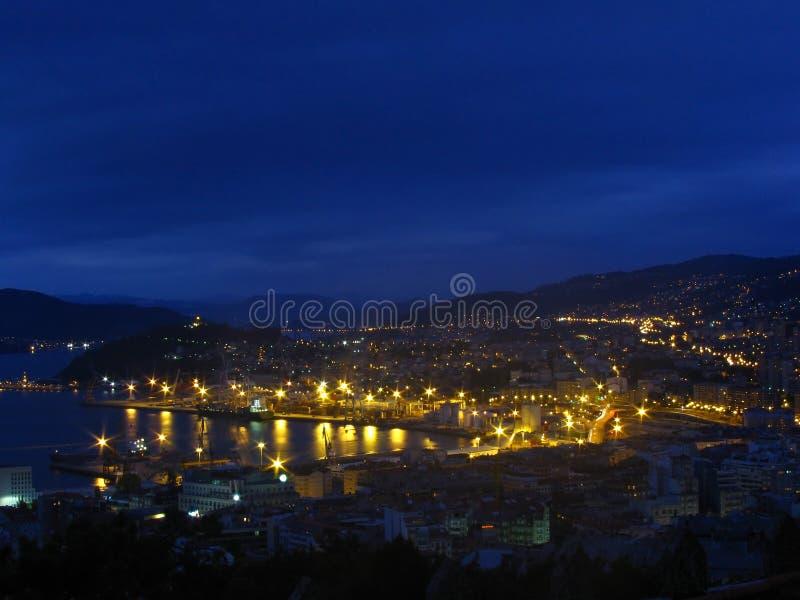 区加利西亚端口区域西班牙比戈 免版税库存图片