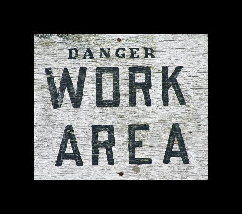 区危险符号工作 免版税图库摄影