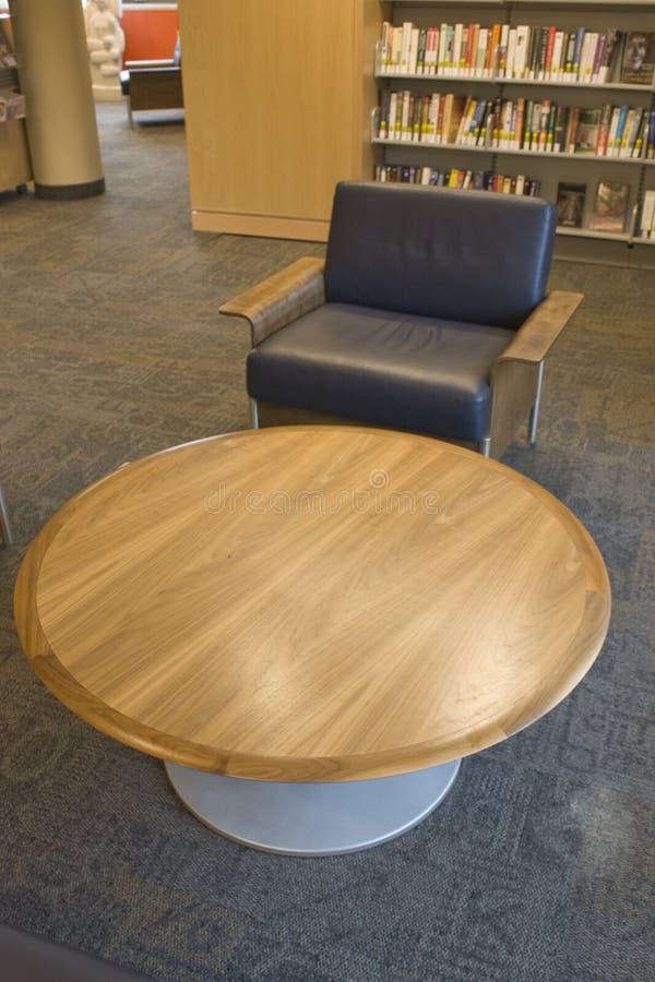 区图书馆读取 免版税库存照片
