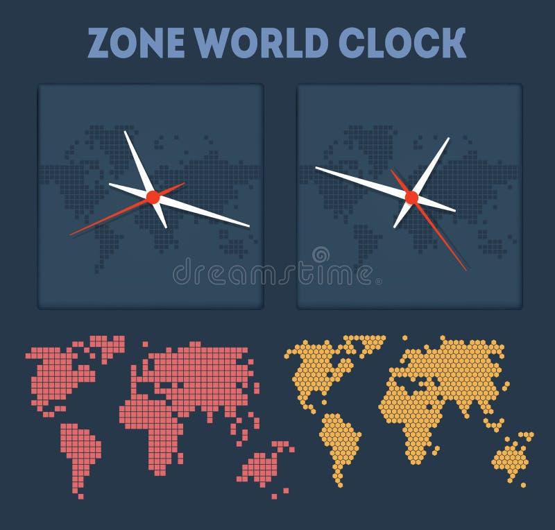 区域世界时间 库存例证