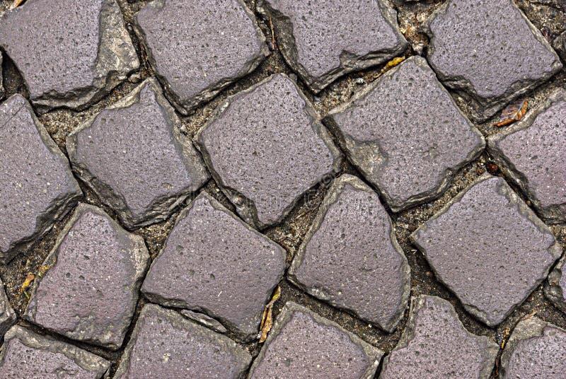 区域铺与石头 免版税库存图片