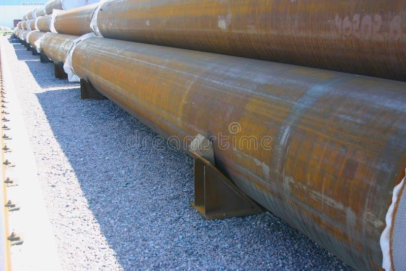 区完成的管道产品存贮 免版税图库摄影