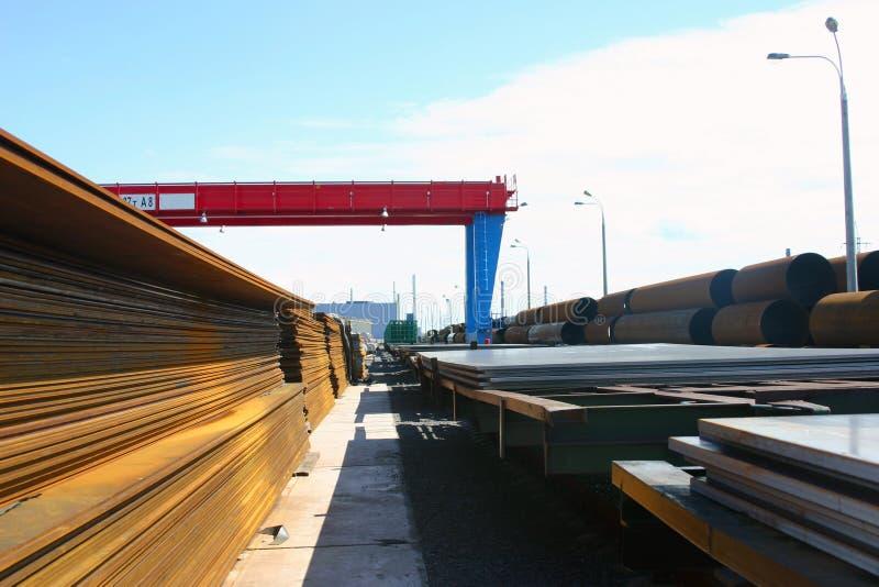 区完成的管道产品板钢 库存照片