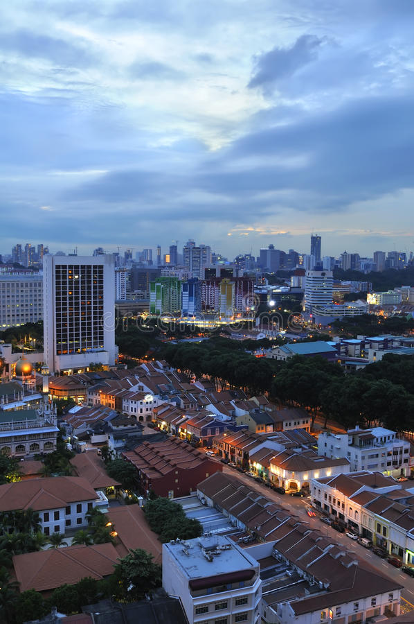 区新加坡视图 库存照片