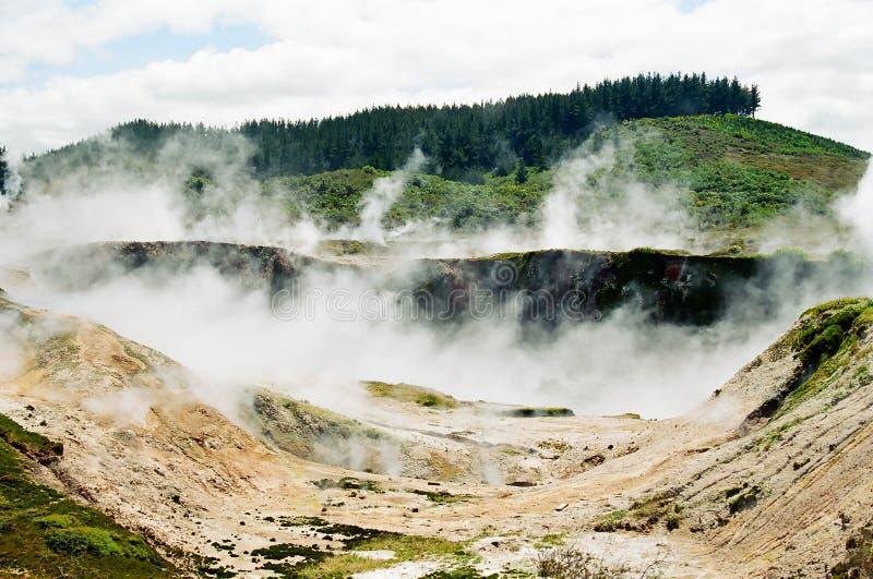 区新的taupo火山的西兰 库存图片