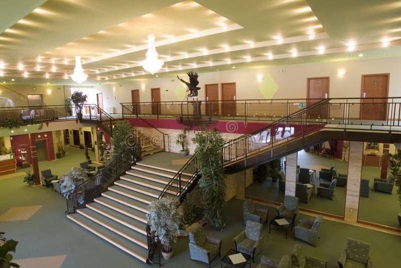 区旅馆大厅空间 库存图片