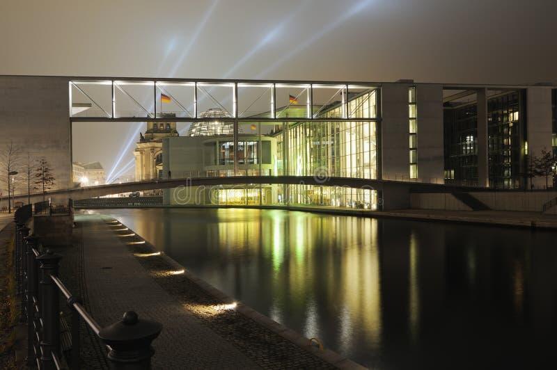 区柏林政府晚上 免版税库存图片