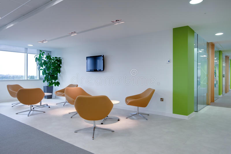区现代办公室接收 免版税图库摄影