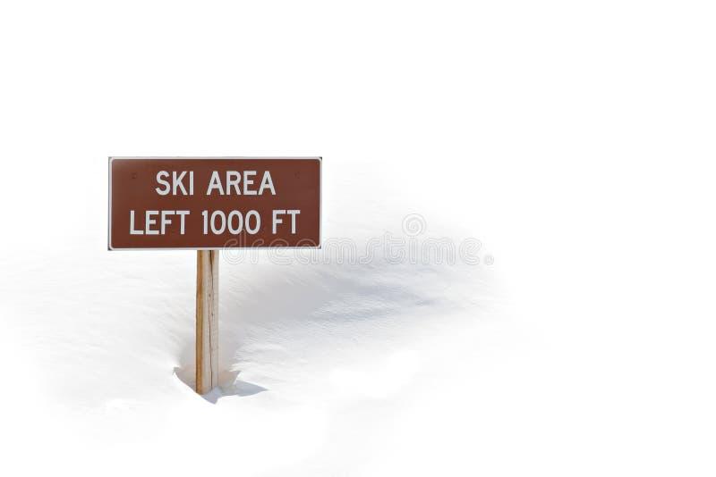 区符号滑雪雪 免版税库存图片
