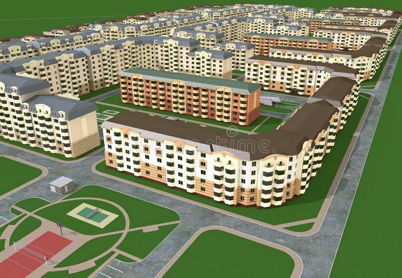 区设计被开发的房子 免版税库存图片
