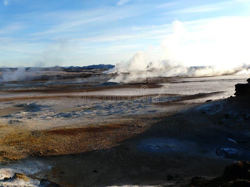 区hverir火山的冰岛 库存照片