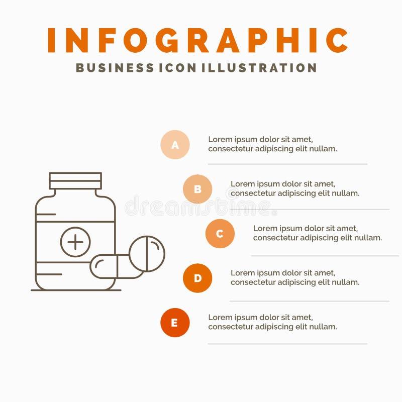 医学、药片、胶囊、药物、片剂Infographics模板网站的和介绍 r 向量例证
