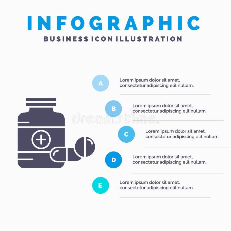 医学、药片、胶囊、药物、片剂Infographics模板网站的和介绍 r 皇族释放例证