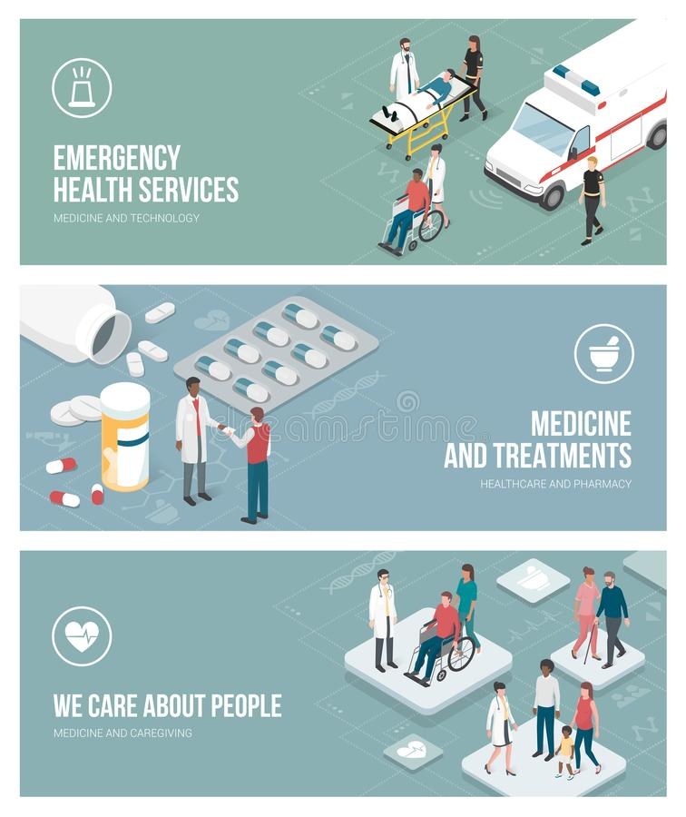 医学和医疗保健 库存例证
