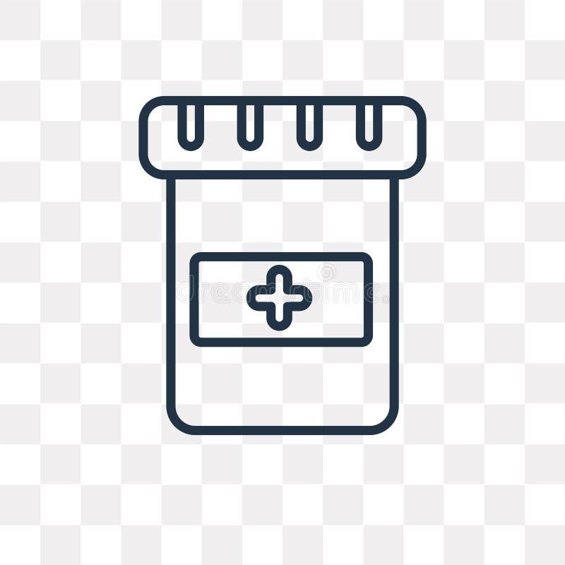医学在透明背景隔绝的传染媒介象,线性 向量例证
