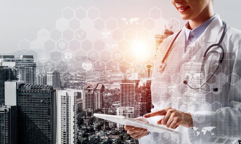 医学工业的现代技术 向量例证