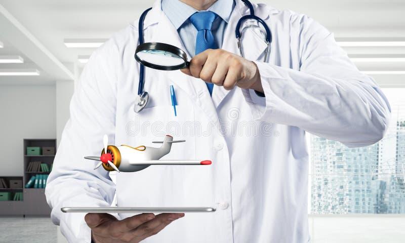 医学工业的运输 免版税库存图片