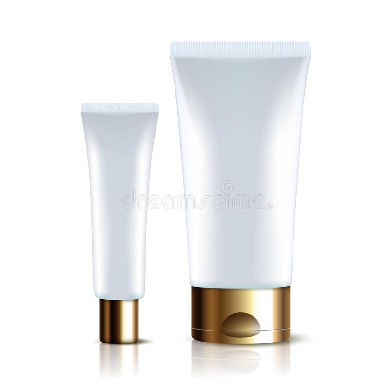 医学或化妆用品产品大模型模板的现实塑料管 向量例证