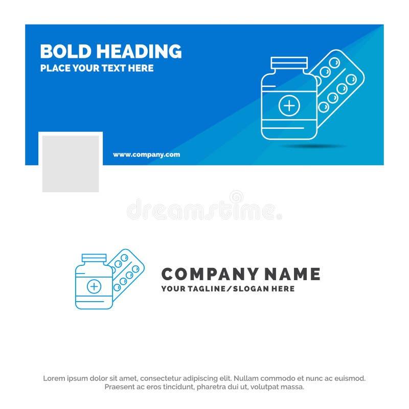医学的,药片,胶囊,药物,片剂蓝色企业商标模板 r r 库存例证