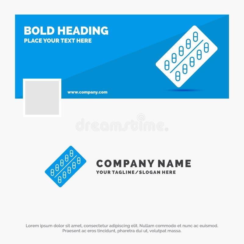 医学的,药片,药物,片剂,小包蓝色企业商标模板 r r 皇族释放例证