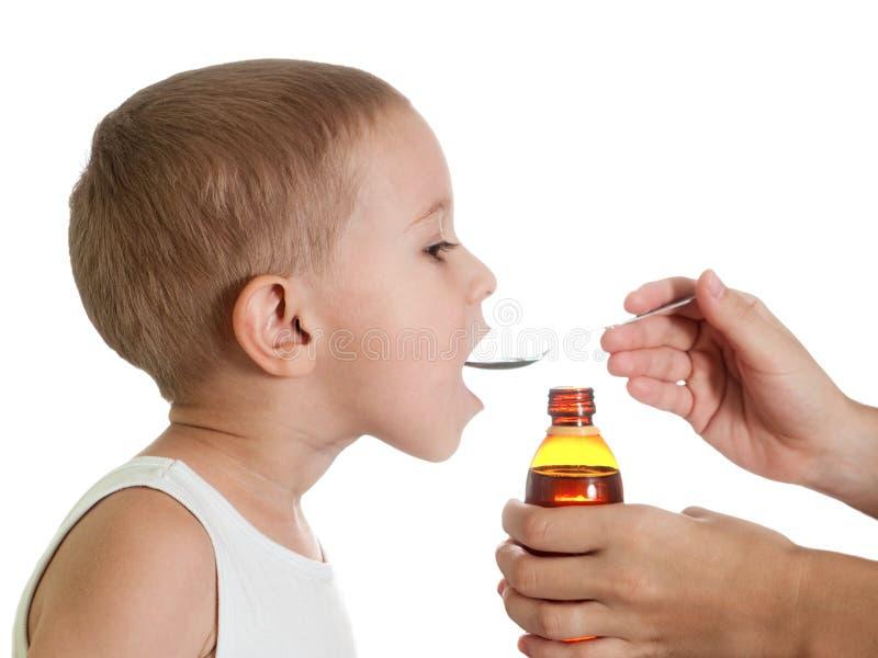 医学糖浆 免版税库存图片
