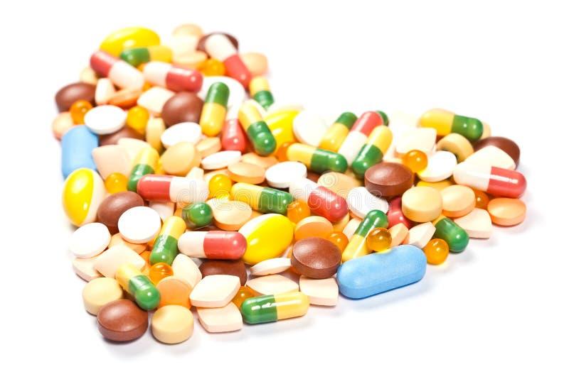 医学药片侧视图作为重点被形成的 库存图片