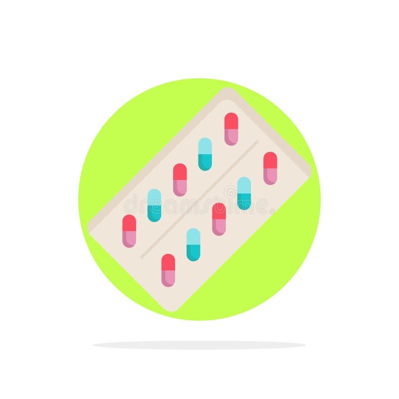 医学,药片,药物,片剂,小包平的颜色象传染媒介 向量例证