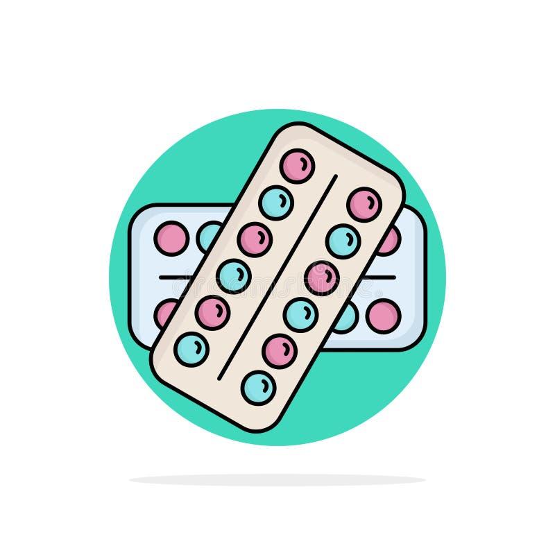 医学,药片,药物,片剂,耐心平的颜色象传染媒介 皇族释放例证