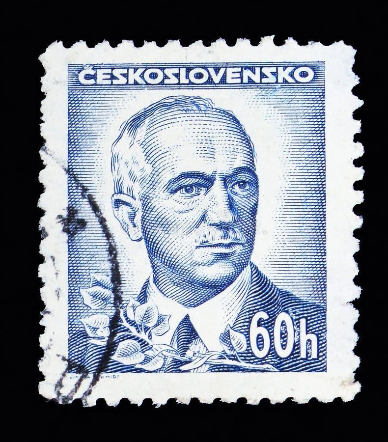 医治Edvard Benes (1884-1948), serie, cir总统,画象 库存照片
