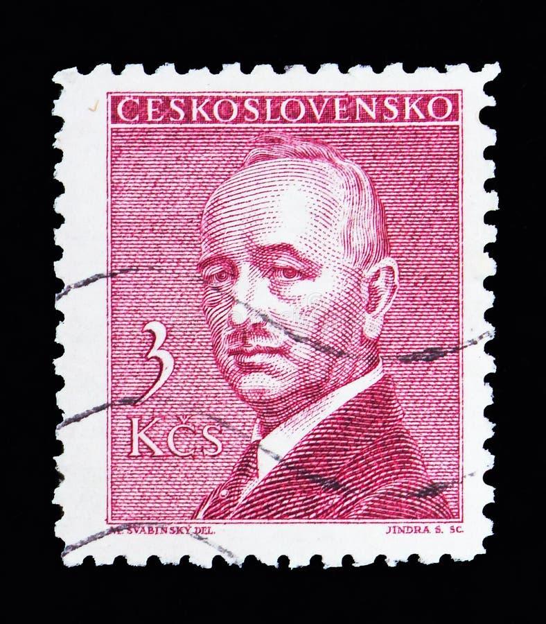 医治Edvard Benes (1884-1948), serie, cir总统,画象 图库摄影