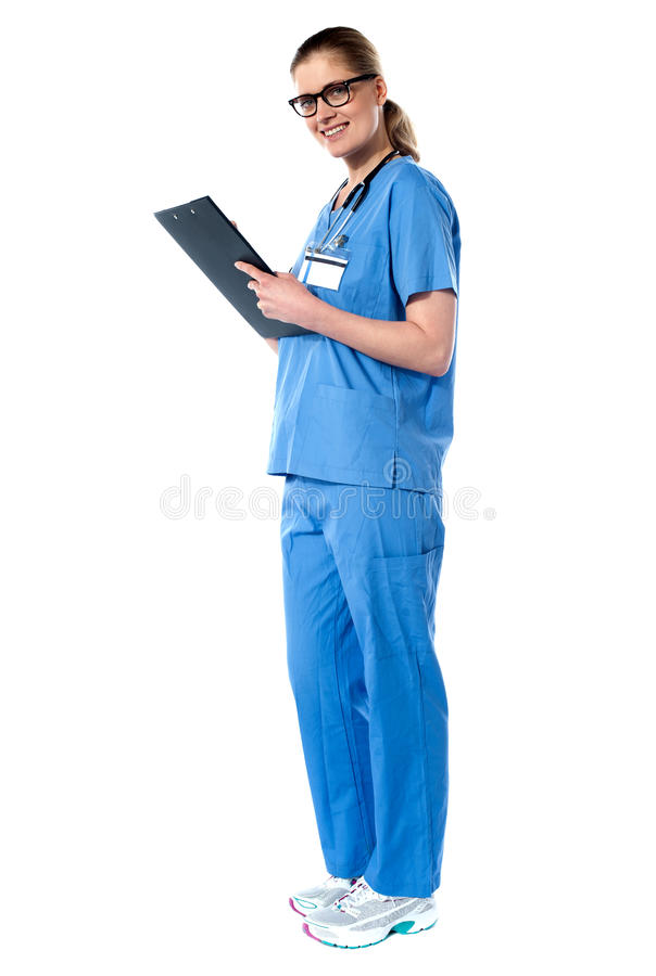 医生充分的夫人长度纵向 免版税库存照片