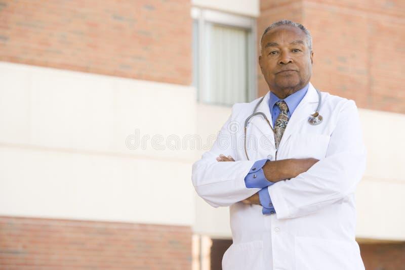 医生医院外部身分 库存图片