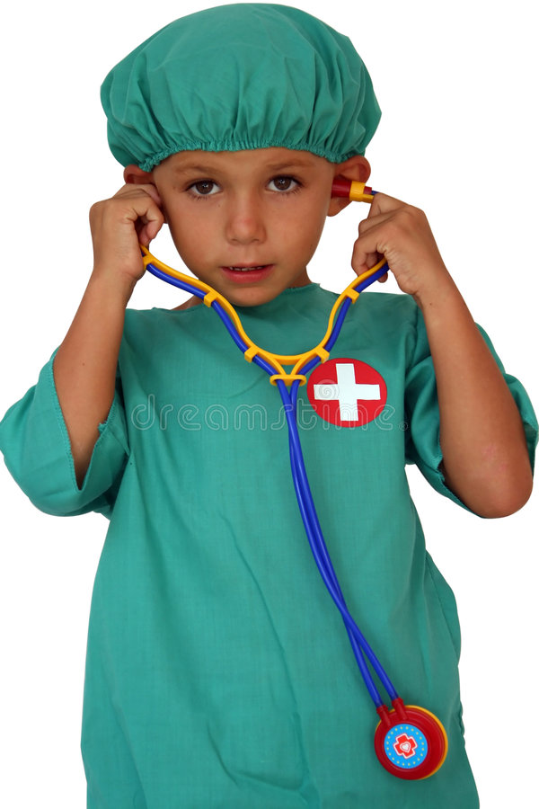 医生听诊器 库存图片