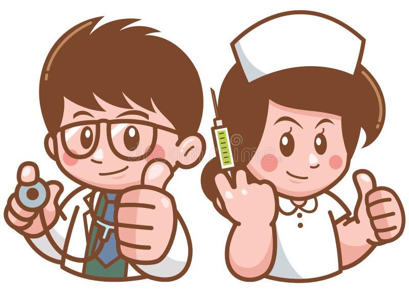 医生和护士 皇族释放例证