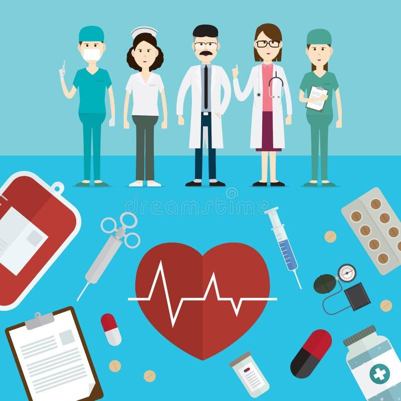 医生和象传染媒介例证 向量例证