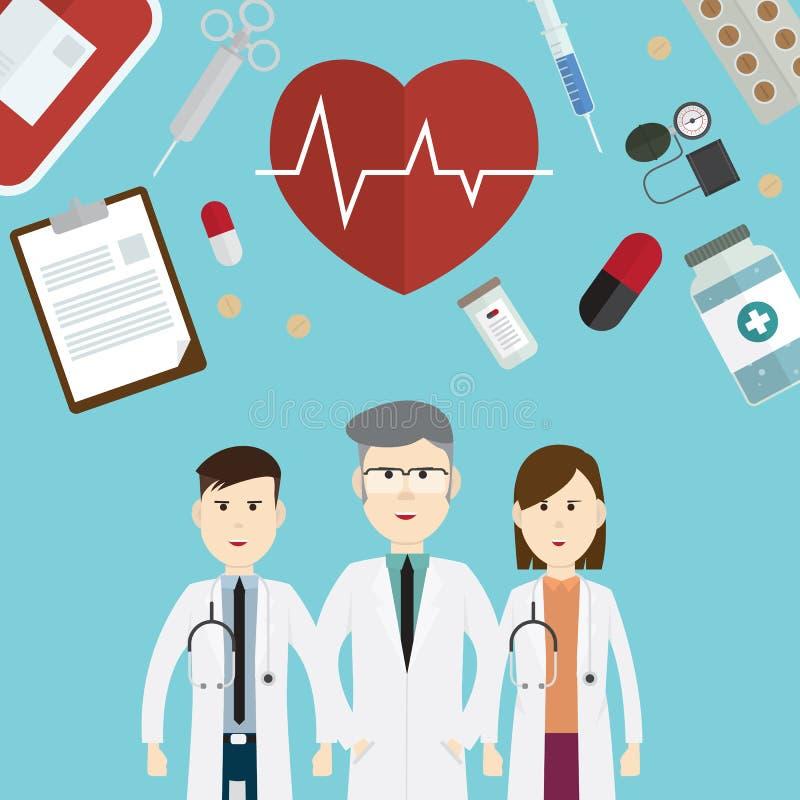 医生和象传染媒介例证 库存例证