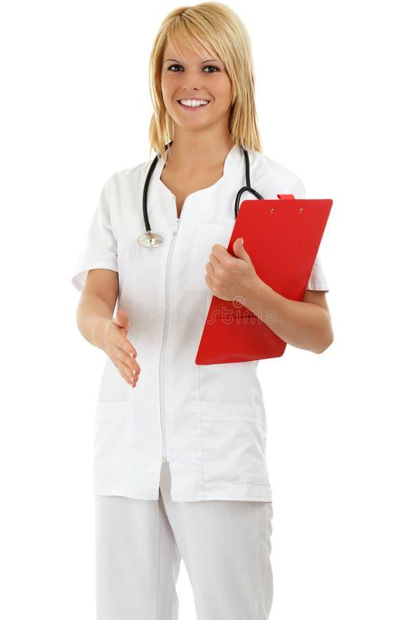 医生女性医疗微笑 免版税库存照片