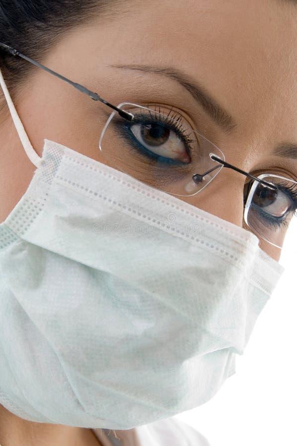 医生女性屏蔽 免版税库存图片
