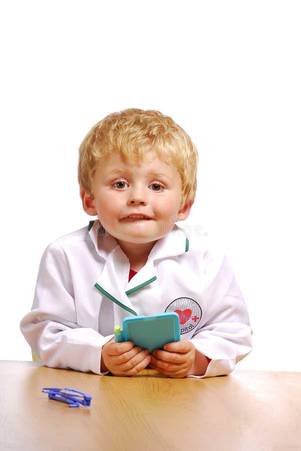 医生小孩年轻人 库存图片