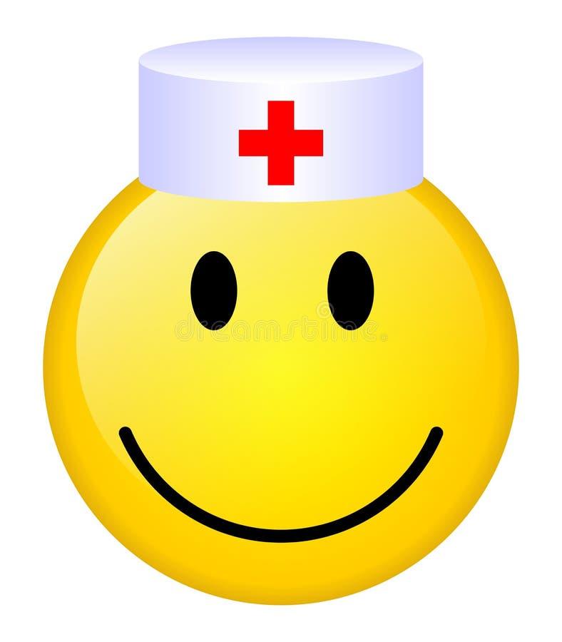 医生微笑 库存例证