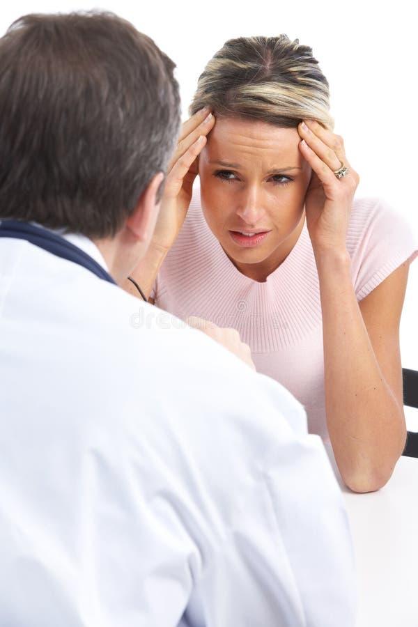 医生患者妇女 免版税库存照片