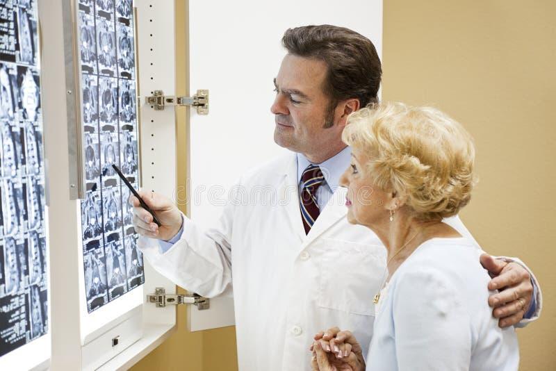 医生患者结果测试 免版税库存照片